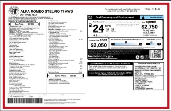 New 2021 Alfa Romeo Stelvio Ti Q4 for sale Sold at Bentley Greenwich in Greenwich CT 06830 28