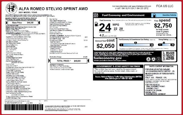 New 2021 Alfa Romeo Stelvio Q4 for sale Sold at Bentley Greenwich in Greenwich CT 06830 2