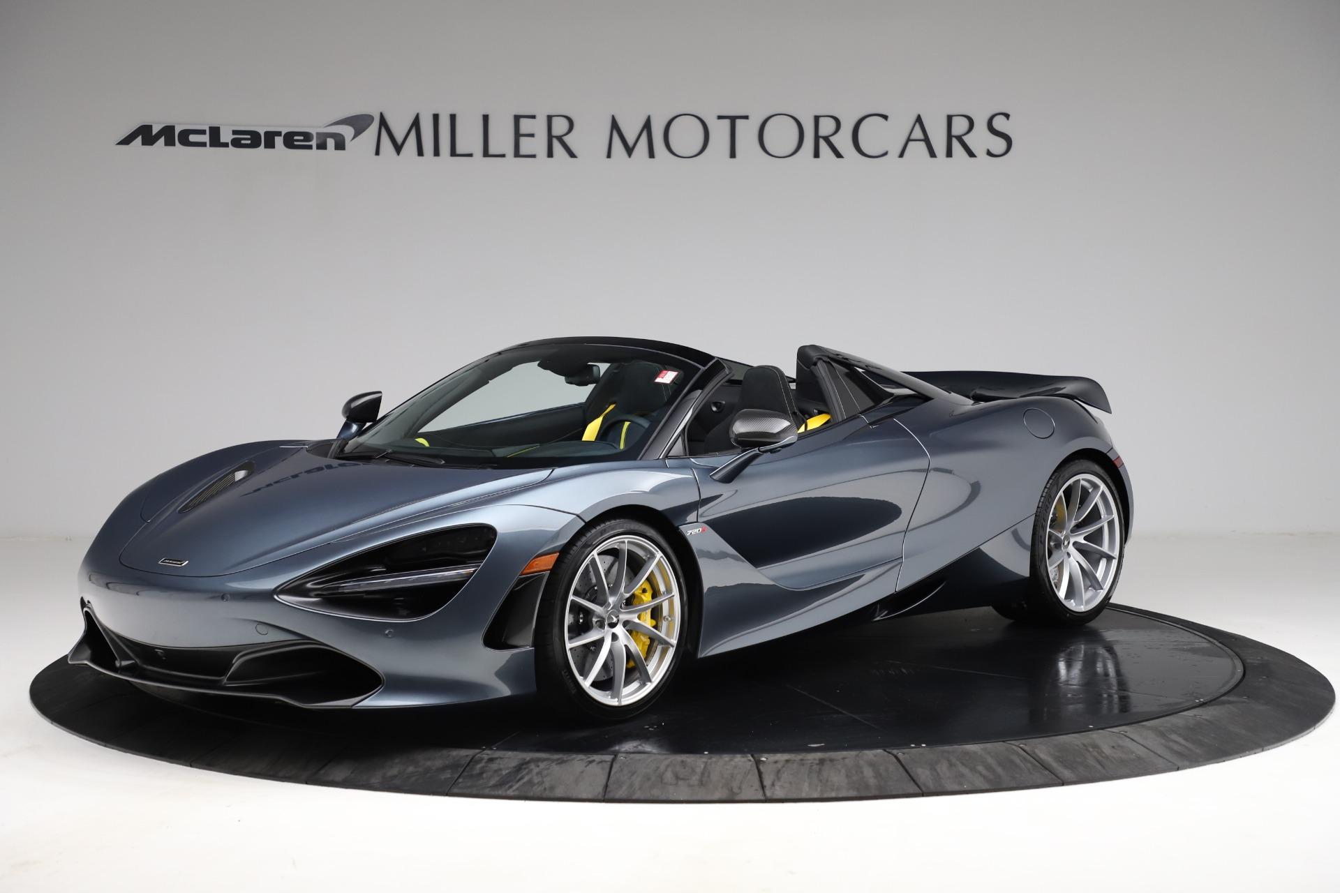 New 2021 McLaren 720S Spider for sale $351,450 at Bentley Greenwich in Greenwich CT 06830 1