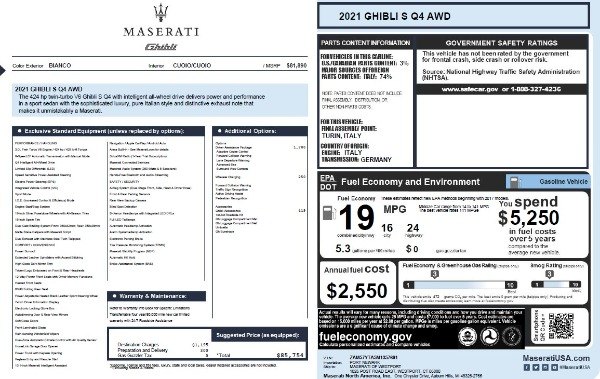 New 2021 Maserati Ghibli S Q4 for sale Sold at Bentley Greenwich in Greenwich CT 06830 26
