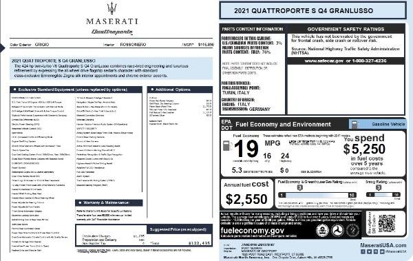 New 2021 Maserati Quattroporte S Q4 GranLusso for sale $122,435 at Bentley Greenwich in Greenwich CT 06830 27