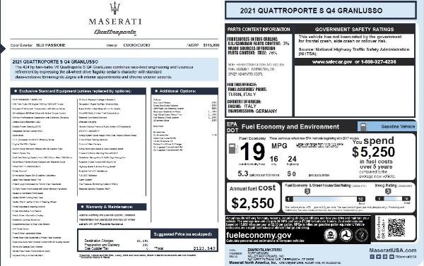 New 2021 Maserati Quattroporte S Q4 GranLusso for sale $123,549 at Bentley Greenwich in Greenwich CT 06830 25