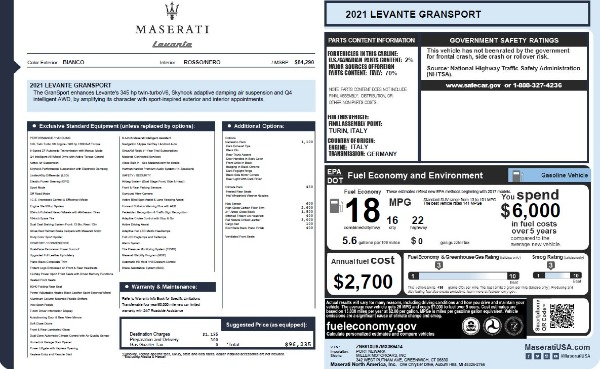 New 2021 Maserati Levante Q4 GranSport for sale $96,235 at Bentley Greenwich in Greenwich CT 06830 26
