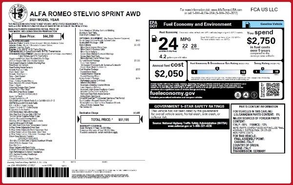 New 2021 Alfa Romeo Stelvio Q4 for sale $51,195 at Bentley Greenwich in Greenwich CT 06830 2