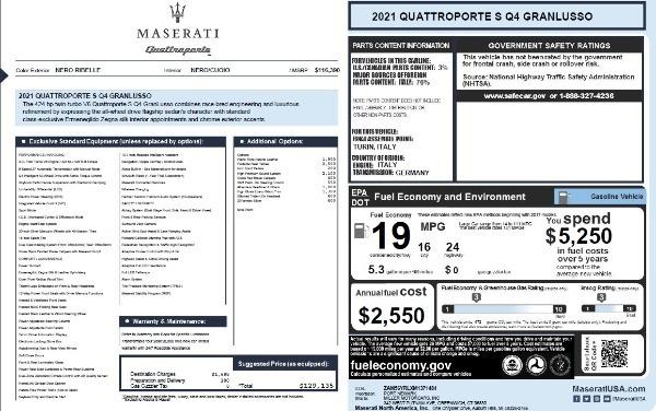 New 2021 Maserati Quattroporte S Q4 GranLusso for sale $129,135 at Bentley Greenwich in Greenwich CT 06830 27