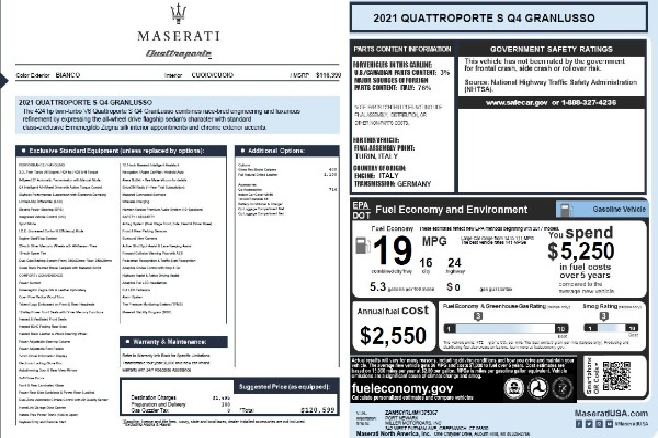 New 2021 Maserati Quattroporte S Q4 GranLusso for sale $120,599 at Bentley Greenwich in Greenwich CT 06830 22