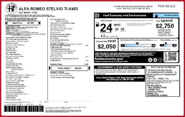 New 2021 Alfa Romeo Stelvio Ti Q4 for sale Sold at Bentley Greenwich in Greenwich CT 06830 20