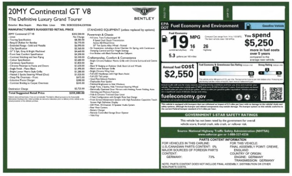 Used 2020 Bentley Continental GT V8 for sale $249,900 at Bentley Greenwich in Greenwich CT 06830 28