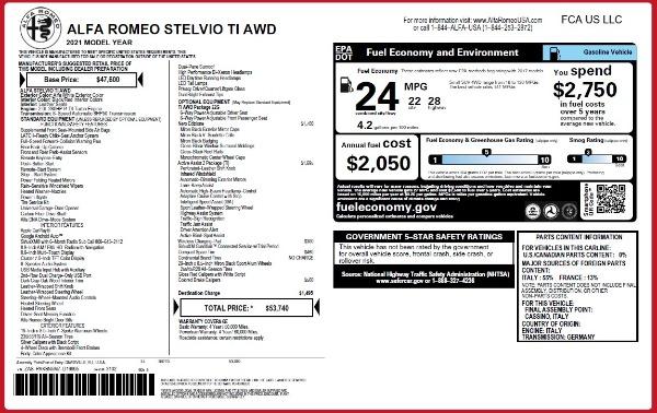 New 2021 Alfa Romeo Stelvio Ti Q4 for sale $53,740 at Bentley Greenwich in Greenwich CT 06830 24