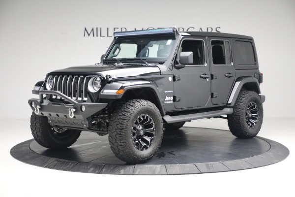 Used 2020 Jeep Wrangler Unlimited Sahara for sale Sold at Bentley Greenwich in Greenwich CT 06830 2