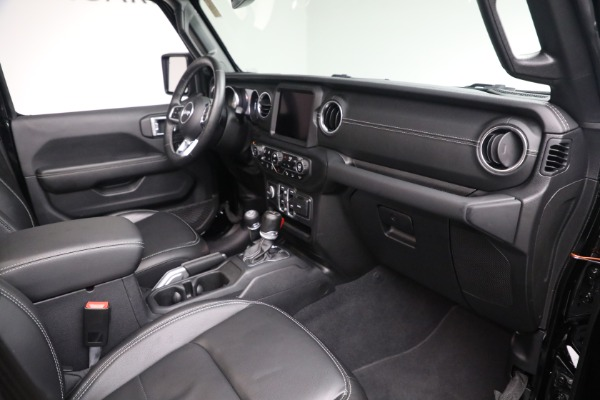 Used 2020 Jeep Wrangler Unlimited Sahara for sale Sold at Bentley Greenwich in Greenwich CT 06830 20