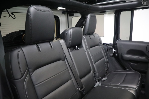 Used 2020 Jeep Wrangler Unlimited Sahara for sale Sold at Bentley Greenwich in Greenwich CT 06830 24