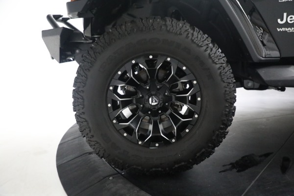 Used 2020 Jeep Wrangler Unlimited Sahara for sale Sold at Bentley Greenwich in Greenwich CT 06830 28
