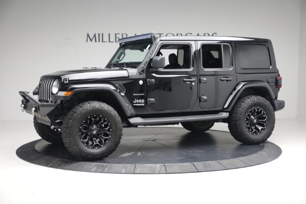 Used 2020 Jeep Wrangler Unlimited Sahara for sale Sold at Bentley Greenwich in Greenwich CT 06830 3