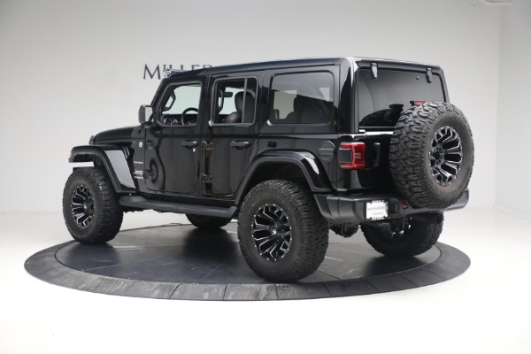 Used 2020 Jeep Wrangler Unlimited Sahara for sale Sold at Bentley Greenwich in Greenwich CT 06830 6