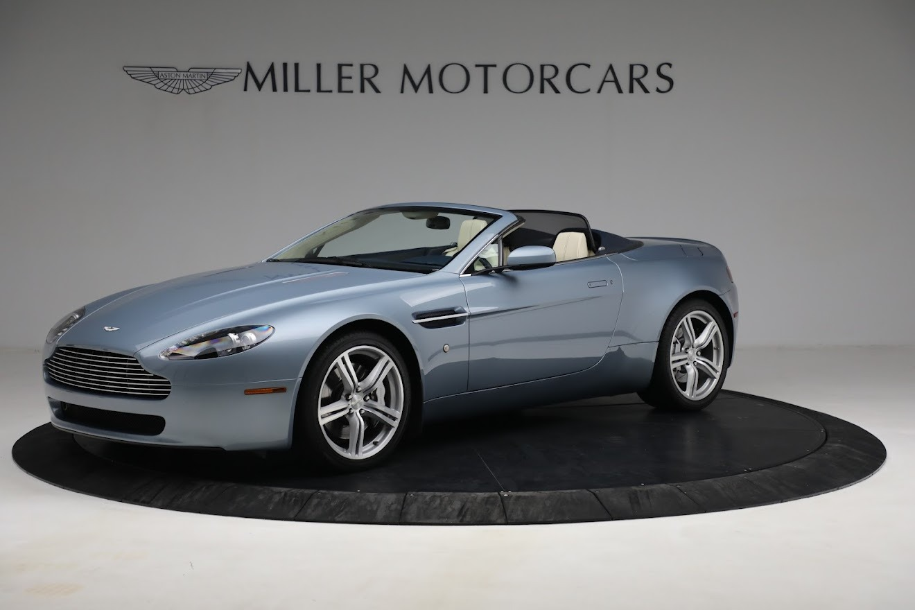 Used 2009 Aston Martin V8 Vantage Roadster for sale Call for price at Bentley Greenwich in Greenwich CT 06830 1