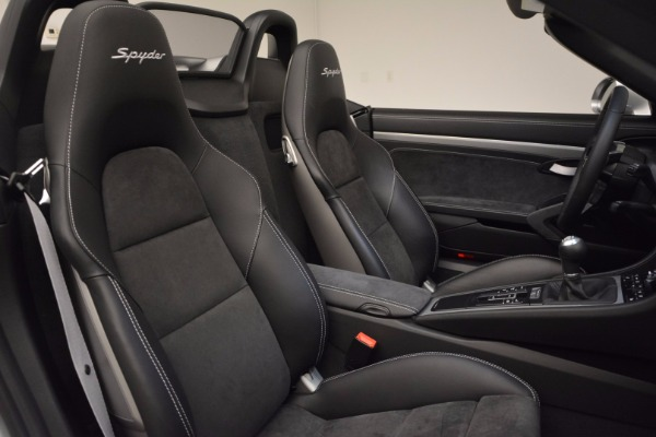 Used 2016 Porsche Boxster Spyder for sale Sold at Bentley Greenwich in Greenwich CT 06830 25