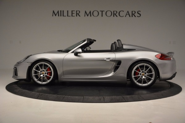Used 2016 Porsche Boxster Spyder for sale Sold at Bentley Greenwich in Greenwich CT 06830 3